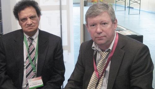 Д.м.н. С.И. Анисимов с доктором А.М. Ахмедом из США, известным создателем популярного имплантата для хирургии глаукомы. Женева, Швейцария.