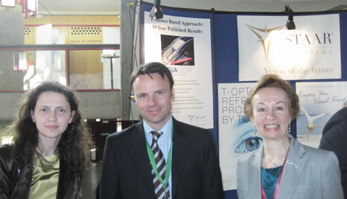Обсуждение результатов использования факичных ИОЛ с представителями компании Staar (США). Женева, Швейцария.