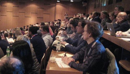 Проф. С.Ю. Анисимова на лекции по глобальным аспектам лечения глаукомы. Женева, Швейцария.