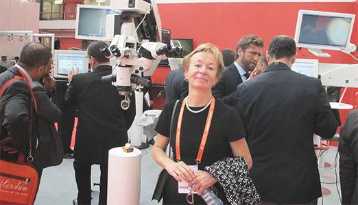 С.Ю. Анисимова на XXXI конгрессе Европейского общества катарактальных и рефракционных хирургов. Амстердам, Голландия.