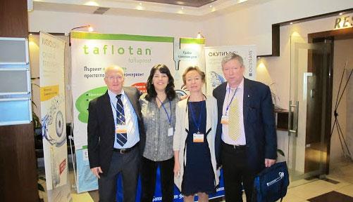 Проф. С.Ю. Анисимова и С.И. Анисимов с коллегами на конгрессе в Болгарии, 2014